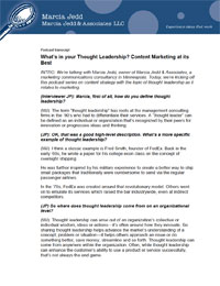 Click for Pdf of Whats in you Thought Leadership?